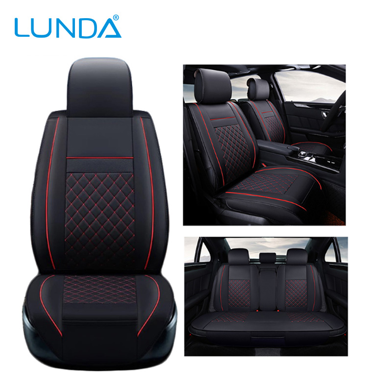New Luxury PU Leather Auto Universal Car Seat Covers Automotive Seat Covers for toyota lada kalina granta priora renault logan universal pu leather car seat covers for toyota corolla camry rav4 auris prius yalis avensis suv auto accessories car sticks