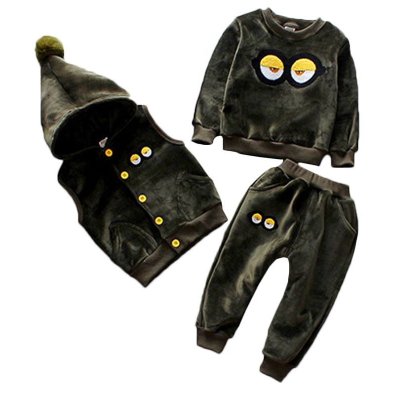 Kids Clothes Boys Sets 2018 Toddler Boys Clothing Thicken Girls Clothes Fashion Children Clothing Toddler Girls Winter Clothing hurave new arrival girls tassel sweater children fashion kids clothing brand england style toddler clothes