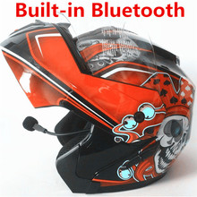 Unisex-Adult's Full-Face Style Bluetooth Integrated Motorcycle Helmet with Graphic (Gloss Black Edge Red, XX-LARGE) цена 2017