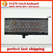 5pcs/lot New Czech CZ Keyboard For Macbook Pro 13″ A1278 Czech Keyboard clavier without backlight 2009-2012year