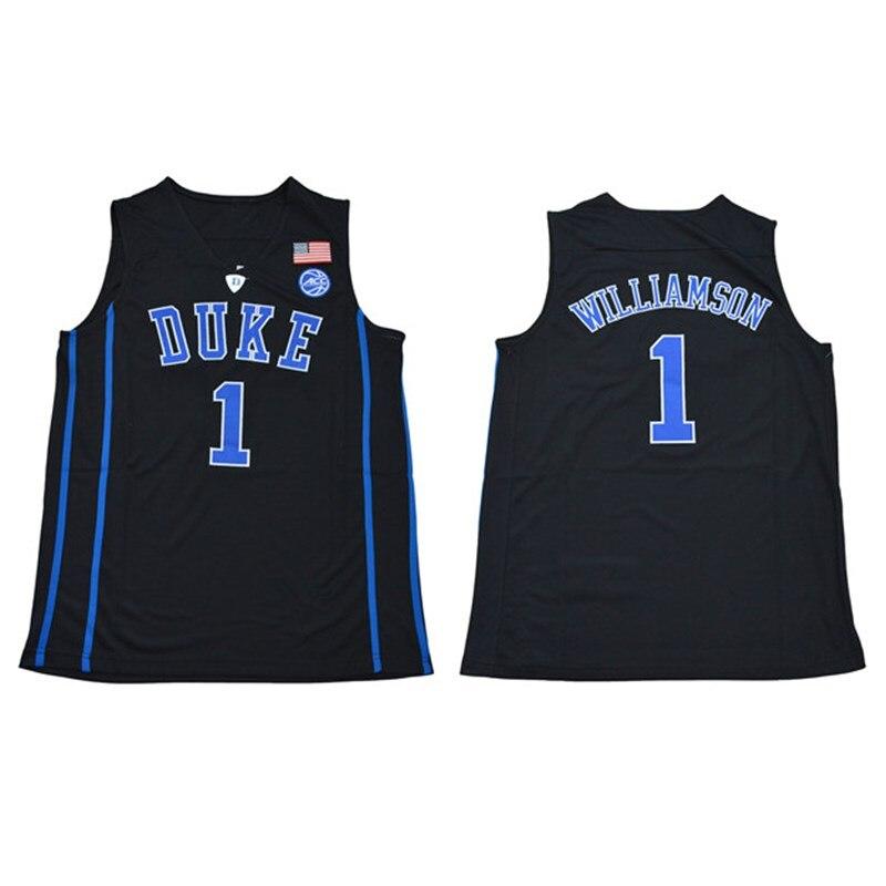 3036f946700 ... usa zion williamson 1 duke blue devils basketball jersey mens stitched  jersey black in basketball jerseys ...