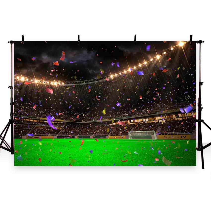 Christmas Sports Background.Photographic Background Banner Ribbon Gymnasium Sports Football New Arrivals Backdrop Photocall Photo Printed Customize Props
