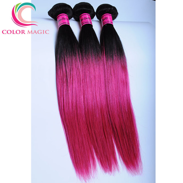 Ombre Straight Hu Man Hair Weave Extensions 1b Pink Aliexpress Uk