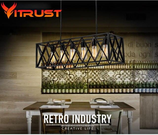 Tienda Online Metal industrial lámpara colgante araña de hierro ...