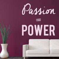 Passion Puissance Wall Sticker Citation Inspirée Sticker Bureau Décor À La Maison