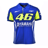 100 Cotton Moto GP VR46 Racing For Yamaha Polo Shirt Valentino Rossi 46 The Doctor Blue