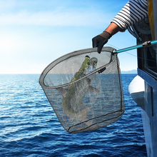 SANLIKE Fishing Net Fish Landing  Telescopic Pole Handle Durable Nylon Material Mesh Safe Catching