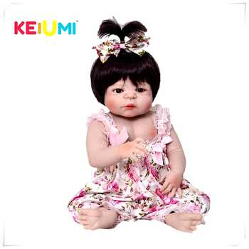 Hot Sale KEIUMI Reborn Girl Baby Doll Full Silicone Body Realistic Princess Newborn Doll For Kid Birthday Gift Child Shower Toy - DISCOUNT ITEM  41 OFF Toys & Hobbies