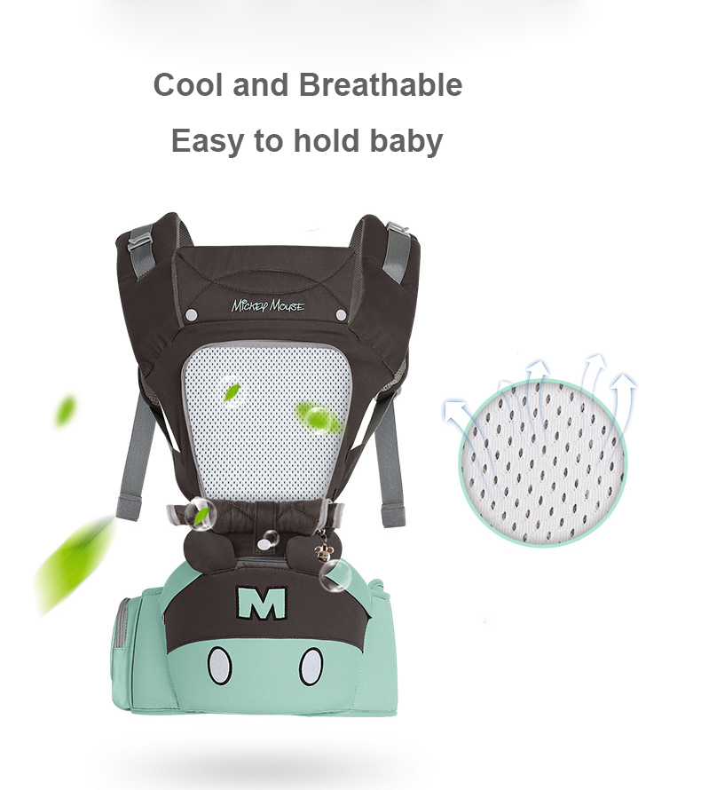Disney 0-36 Months Breathable Front Facing Ergonomic Baby Carrier And Pouch Wrap 3