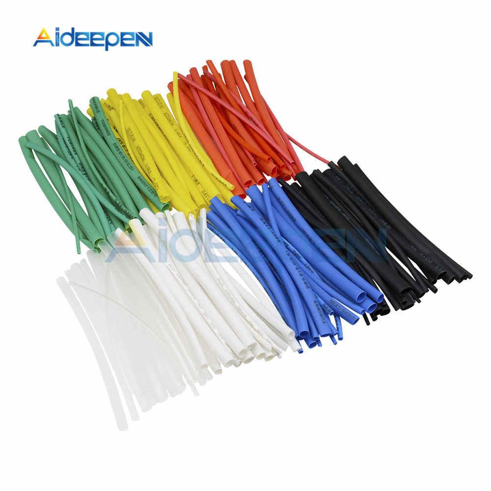 530 Pcs 328 Pcs 140 Pcs 127 Pcs Thermal Kontra Lengan Heat Shrink Tube Termoretractil Tabung PVC Tubing 2:1 wrap Kawat Kabel