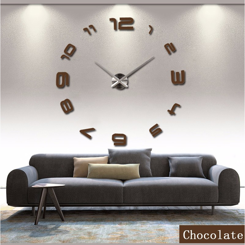 Big Mirror Wall Clock Modern Design Large Decorative Black Clocks Wall  Watch Wall Stickers, Unique Gift, From Reliable Gift Matches Suppliers On  Joanna ... Part 79