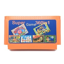 Super 360 in 1 60 Pins Game Cartridge for 8 Bit Game Console with Double Dragon1 2 3 4/Adventure Island1 2 3 4/ Snow Bros, etc.