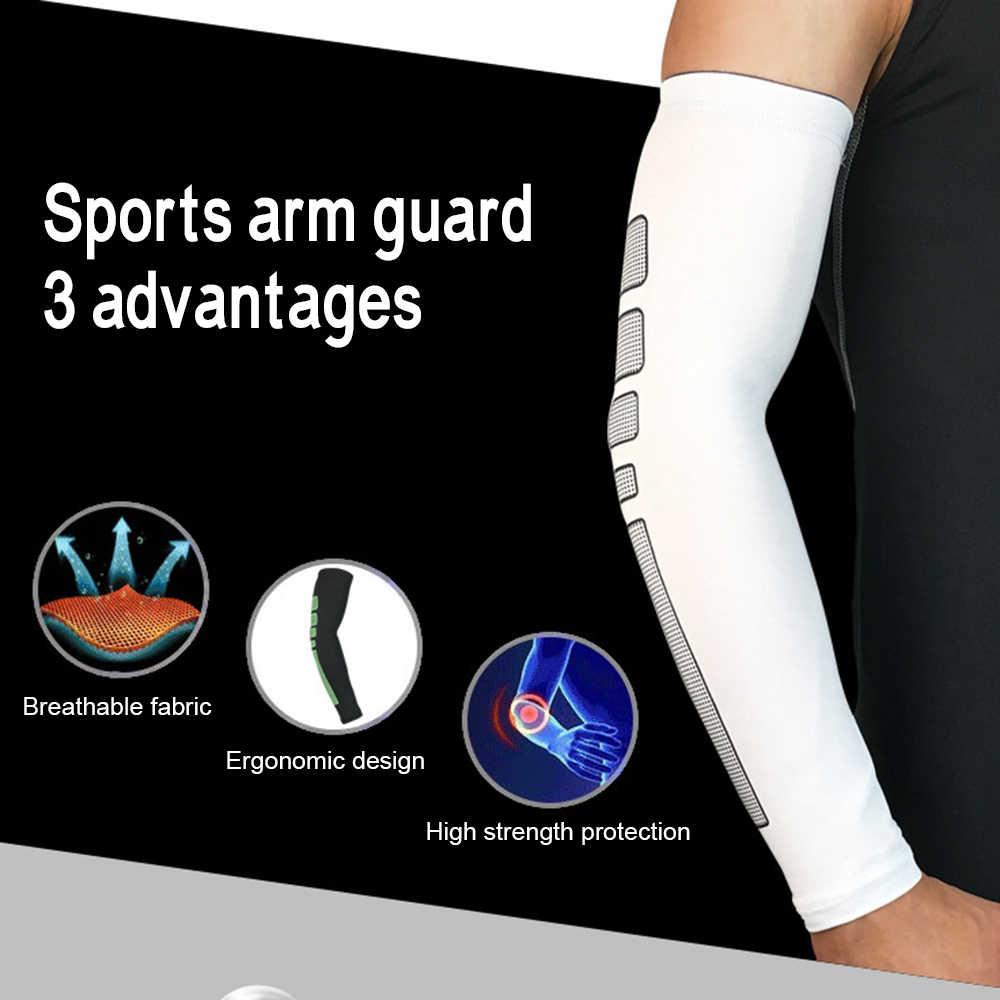 1 Bóng Rổ Armguard Thể Thao Bảo vệ Bóng Đi Taekwondo Thoáng Khí Dài Ấm Áp Bracers Tay Chống Nắng Tay