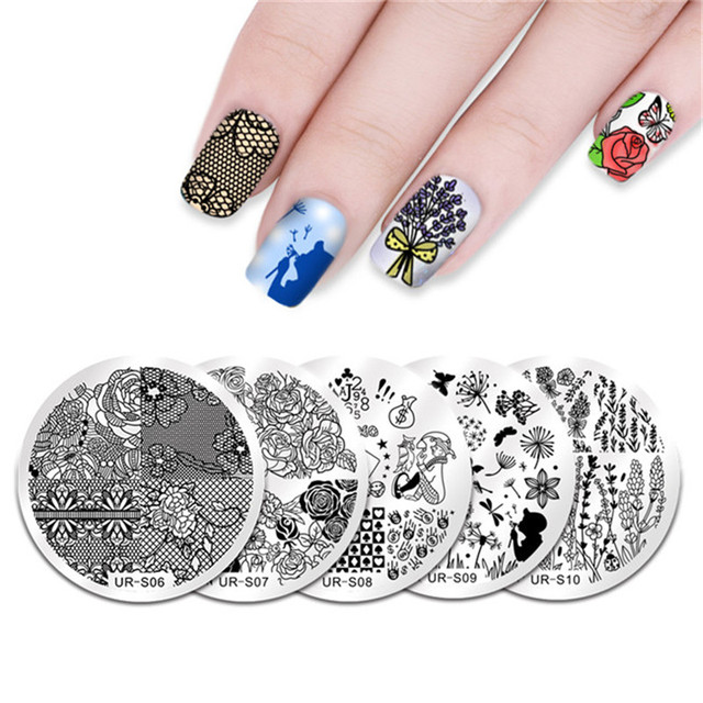 UR SUGAR 5Pcs Stamping Template Set Happy April Fools\' Day Joker ...