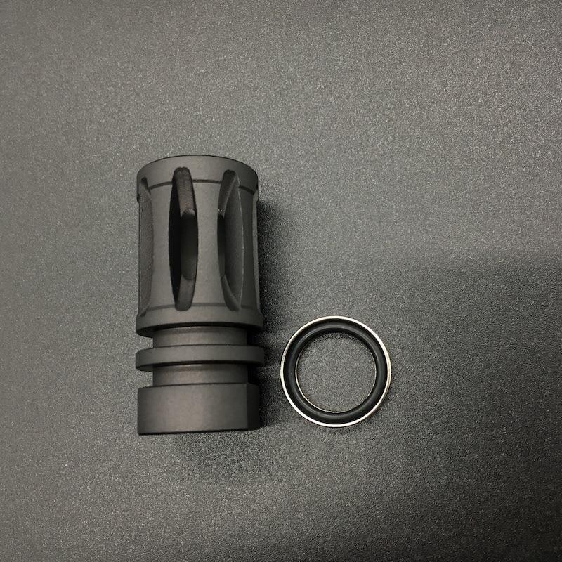 Full Metal 14MM CCW M4/M16 A2 Birdcage Flash Hider For JInMing Gen9 J9 Water Gel Ball Blaster AEG Airsoft