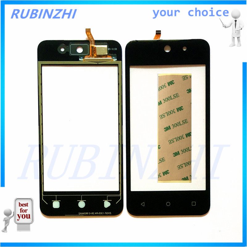 RUBINZHI Mobile Phone Touch Replacement Panel For DEXP Ixion M340 Touch Screen Sensor Front Glass Repair Parts with Tape
