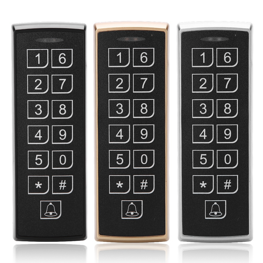 12V DC  RFID Door Access Control System Waterproof Metal Keypad 125KHz Contactless Proximity Card Access Control With 1000 Users12V DC  RFID Door Access Control System Waterproof Metal Keypad 125KHz Contactless Proximity Card Access Control With 1000 Users