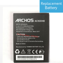 6ca3487e90f8e8 Hot Selling New High Quality AC50DHE Replacement Battery Baterij For ARCHOS  50d Helium 4G AC50DHE Mobile Phone Batteries