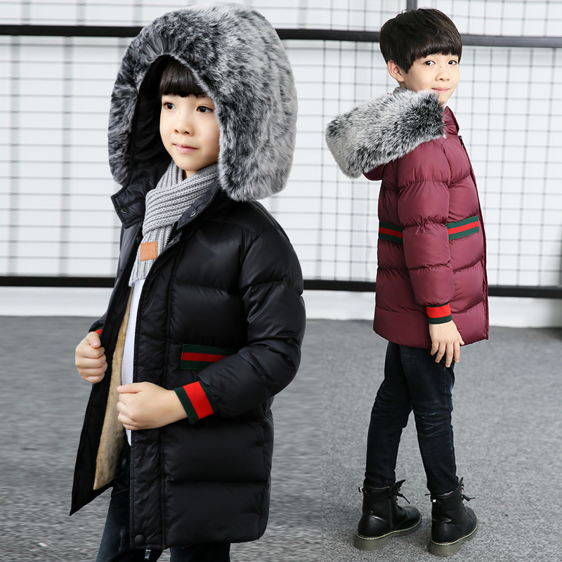 boy winter coat 2017 Flannel lining larger hooded warm padded cotton kids jacket Suitable for extremely cold weather vikram seth a suitable boy