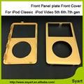 Preto Branco cinza Cor do Ouro 6.5th 6th gen Nova Frente Painel de cobertura placa Faceplate Habitação Para iPod Classic Para iPod Video