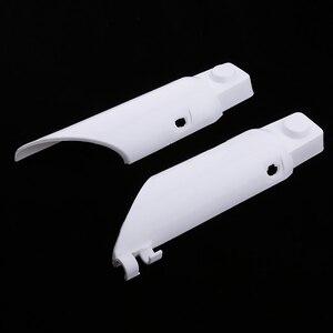 Image 3 - 1 זוג הלם מזלג מגיני עטיפות גמיש פלסטיק עבור הונדה CRF50 CRF 50 לבן מדויק Fit אופנוע אביזרי 2019 חדש