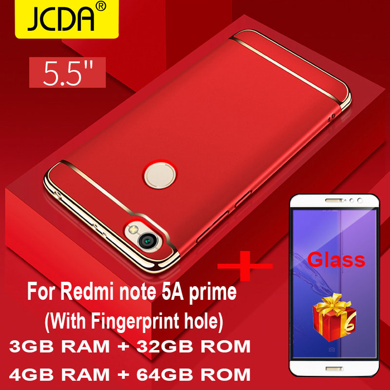JCDA Case For Xiaomi Redmi Note 5A Prime Case Cover Luxury 360 Degree Full  Protection Back Phone Case Xiaomi Redmi Note 5A Case