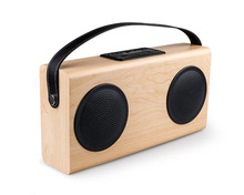 Wireless Wooden Bluetooth Speaker Portable With Microphone Stereo Sound Music Receiver With FM Radio And Power Bank