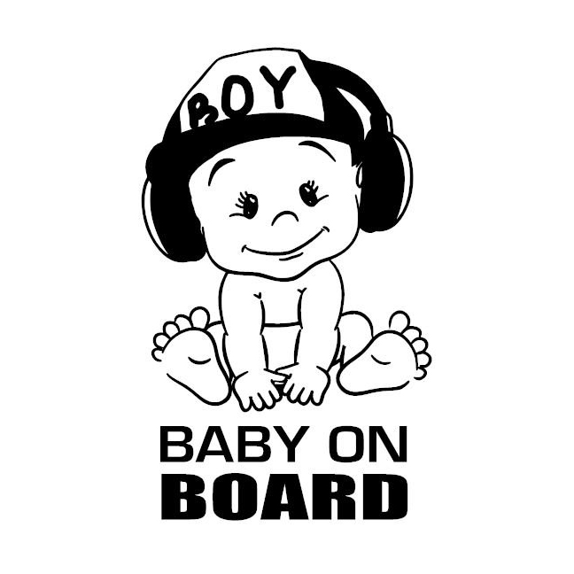 12x18cm Baby On Board Vinyl Sticker Car Decal Sticker For Car Window Funny Cute Cool Boy Design Waterproof New TA126(China)