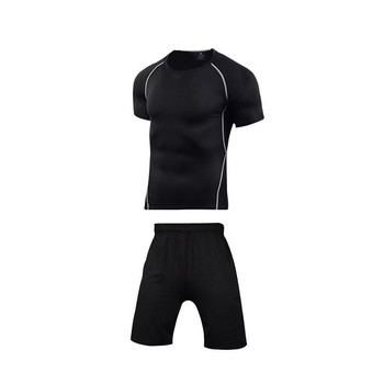 Men Sportswear Compression Sport Suits Quick Dry Running Sets Clothes Sports Joggers Training Gym Fitness Tracksuits Running Set 18