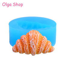 GYL411 26.4mm Croissant Silicone Mold - Pastry Bread Candy Chocolate Resin Earring Jewelry Making Necklace Brooch Pendant(China)