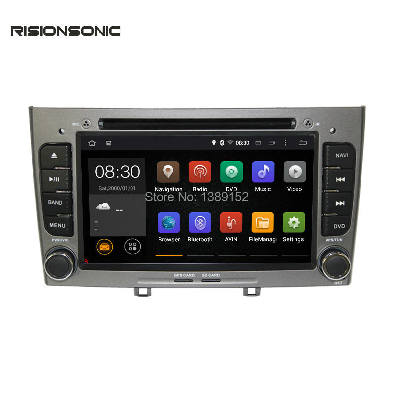 quad core android 5 1 1 car dvd gps player for peugeot 308 308sw 408 quad core a9 1 6ghz car. Black Bedroom Furniture Sets. Home Design Ideas