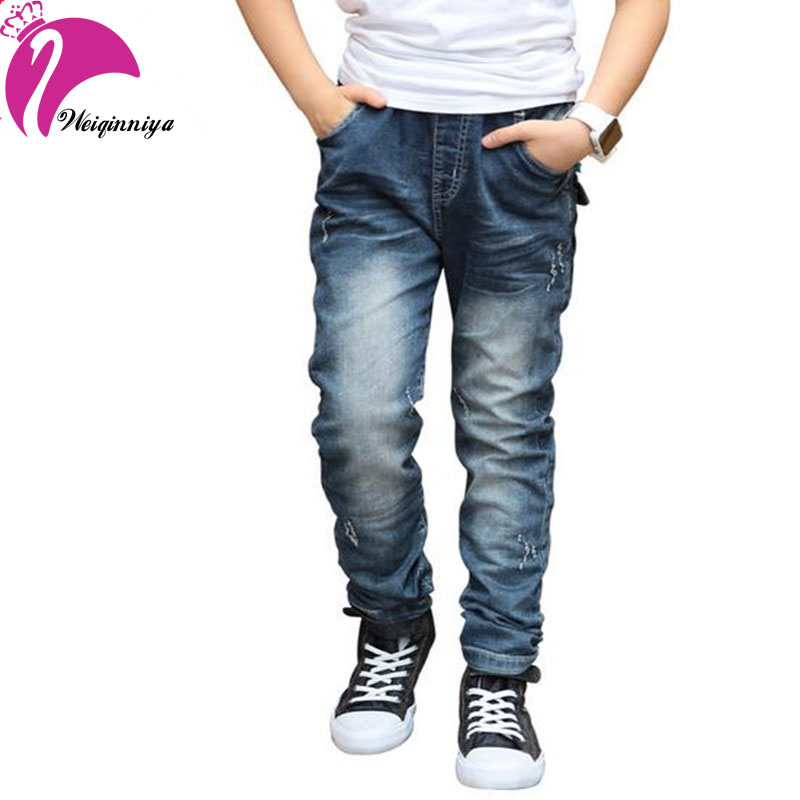 643a5708d0 New Arrivals 2016 Boys Jeans Pants Korea Style Spring Summer Denim Patch  Design Long Trousers Children Boy Clothing Hot Sale-in Jeans from Mother &  ...