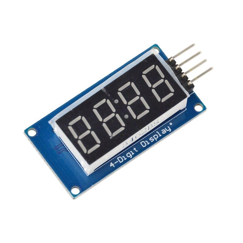 5 шт. tm1637 LED Дисплей модуль для Arduino 7-сегментный 4 биты 0.36 дюйма часы красный анод цифровой трубки четыре последовательный драйвер пакет доска
