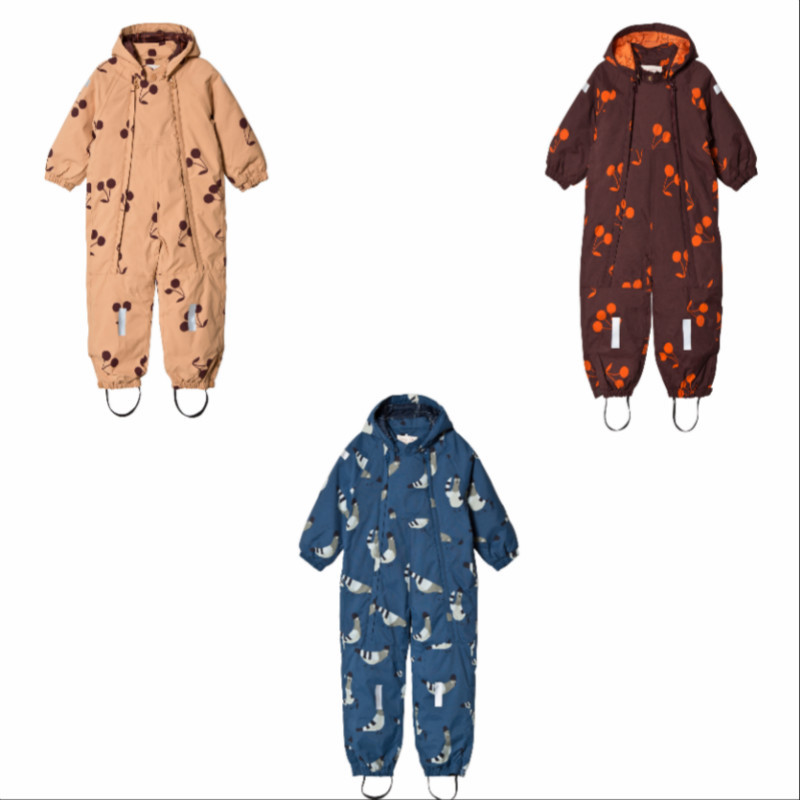 Baby Rompers 2018 Winter Tiny Cottons Boys Girls Newborn Thicken Snowsuit Infant Print Hooded Jumpsuit Baby Boy Clothes Ski Suit