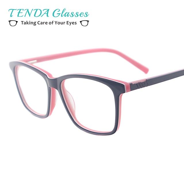 81598c14999 Colourful Women Acetate Spectacles Men Full Rim Square Eyewear With Spring  Hinge For Prescription Multifocal Lens