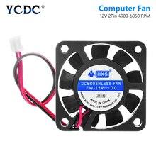 YCDC видеочип 40x40 мм 2 Pin черный Настольный кулер для процессора 40 мм 2 Pin PC вентилятор Радиатор кулер вентилятор охлаждения DC 12V 4010 модель