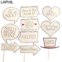 LAPHIL Wedding Photo Booth rekwizyty dla przyszłej panny młodej Party DIY pan pani Photobooth rekwizyty dekoracje ślubne zaopatrzenie na wieczór panieński