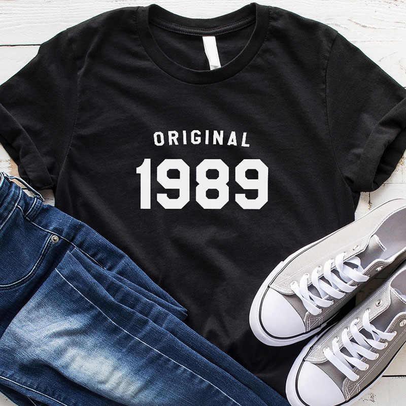 30 번째 생일 t 셔츠 여성 인과 그래픽 티 원래 1989 t-셔츠 짧은 소매 코 튼 o-넥 tshirt 생일 파티 탑스 3xl