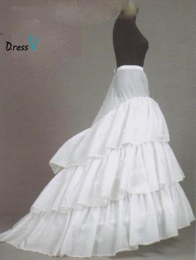 Dressv Cheap Wedding Petticoat Jupon Court Train Crinoline Slip Underskirt for A-line Wedding Dress 3 Layers Wedding Accessoires