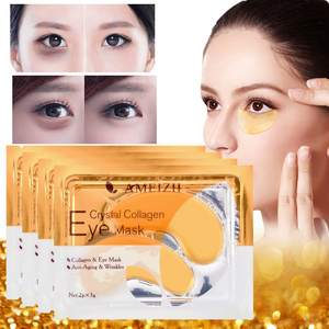 5pair Gold Crystal Collagen Eye Mask Eye Patches Eye Mask For Face Care Dark Circles Remove Gel Mask for the Eyes Ageless TSLM1