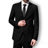 Homens de negócio ternos magro completo manga capina vestido de uniforme cavalheiro moda de alta qualidade profissional ( jaqueta + calça )
