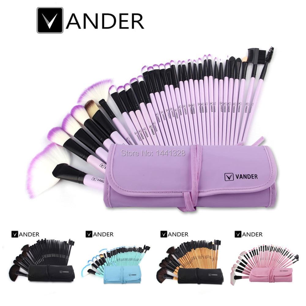 Vander Professionnel 32 Pcs Cosmétiques Maquillage Pinceaux POLYVALENTE Poudre Fondation Beauté Outils Kits de Toilette Maquillage Sac