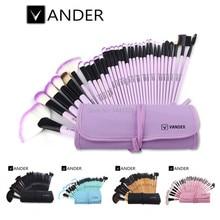 Vander Professional 32 Pcs Cosmetic Makeup Brushes Set MULTIPURPOSE Powder Foundation Beauty Toiletry Tools Kits Makeup Bag