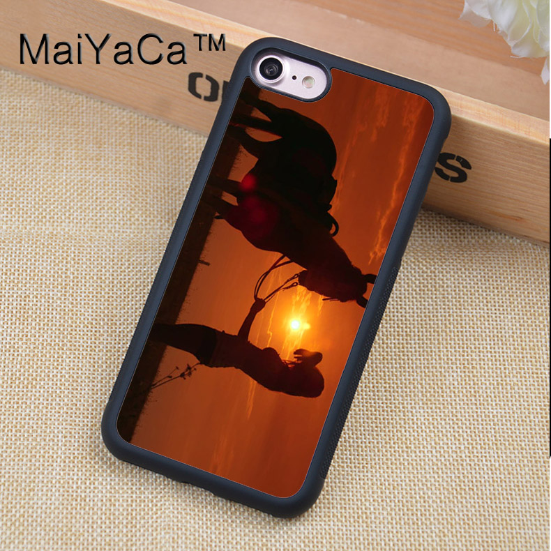 MaiYaCa Cowgirl Horse Sunset Style Phone Cases For iPhone 6 6s Cover For Apple iPhone 6 6s TPU Back Shell Coque Funda