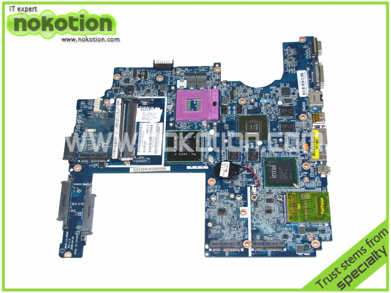 NOKOTION JAK00 LA-4082P 480365-001 Laptop motherboard For HP Pavilion DV7 DV7-1000 REV 1.0 Intel PM45 DDR2 9600M Mainboard nokotion laptop motherboard for hp pavilion dv3 intel pm45 ddr2 with nvdia graphics kjw10 la 4735p 576795 001