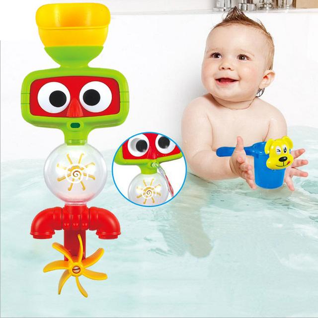 Girassol brinquedos banho de água de torneira a lactentes e crianças jovens lazer casa de banho brinquedos educativos