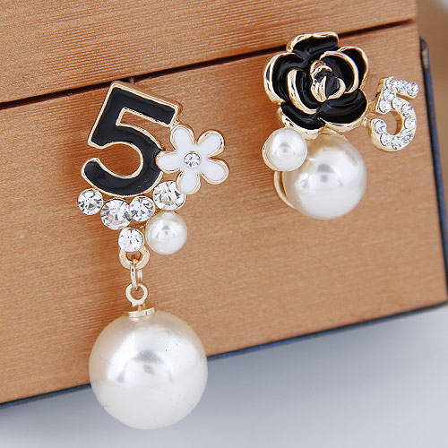 me shumicë Boucle d'oreille orecchini Fashion Imitation perla vathë smalt lule kurvar Vathë për gratë pendientes bijoux