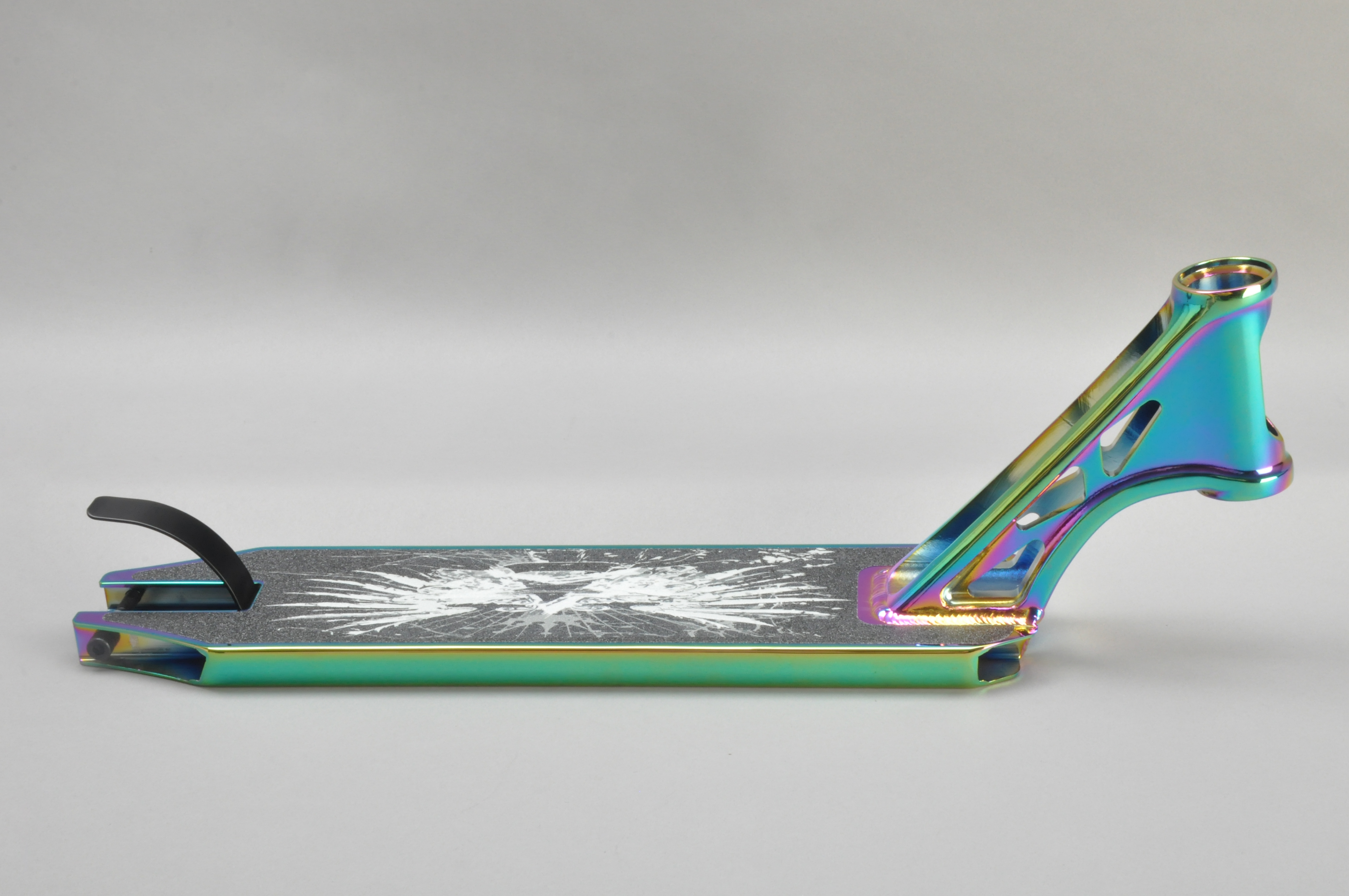 PVD Colour Professional OEM ODM 115*500mm Alloy 6061 Stunt Scooter Deck For 100/110/120mm Rear Wheel