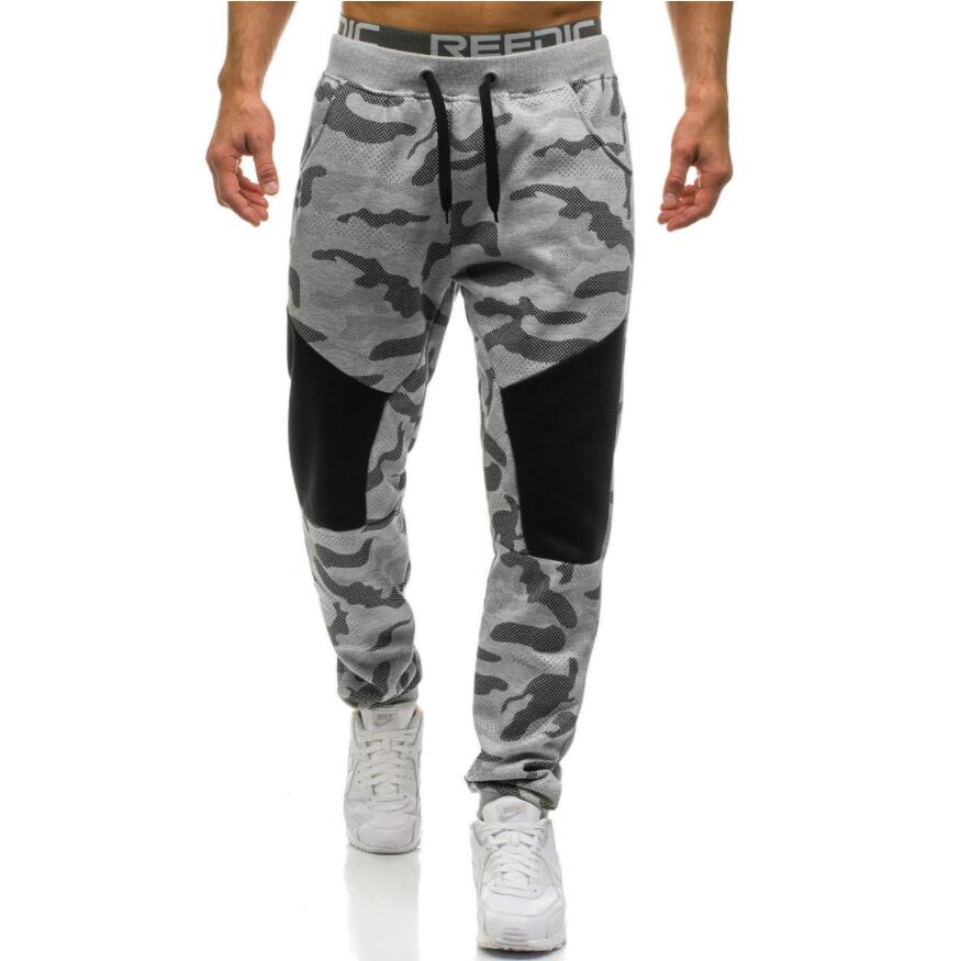 Pantaloni Casuali degli uomini 2018 di Marca Maschile Dritto Pantaloni Mimetici Pantaloni Lunghi di Cotone Sportivi Jogger Tuta Funky Pantaloni Della Tuta XXL