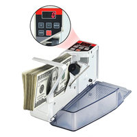 V40 Portable Mini Money Currency Counting Machine Handy Bill Cash Banknote Counter Counting All Bill EU Wholesale